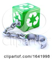 3d Shackled Recycle Dice