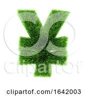 3d Green Grass Yen Symbol by Steve Young