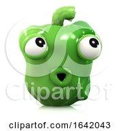 3d Surprised Green Pepper