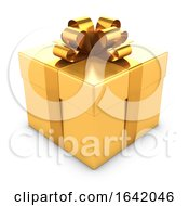 3d Gold Gift Box