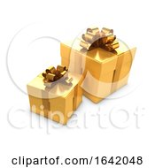 Poster, Art Print Of 3d Two Gold Gifts