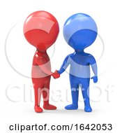 Poster, Art Print Of 3d Red And Blue Man Shake Hands
