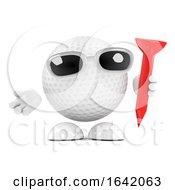 3d Golf Ball With Tee