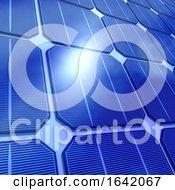 3d Close Up Of Solar Cells