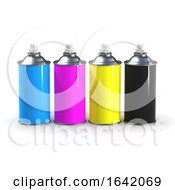 3d CMYK Spraycans by Steve Young