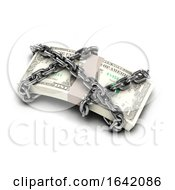 3d Chained US Dollars
