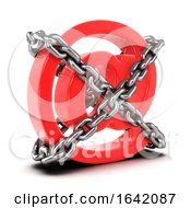 3d Chained Email Address Symbol