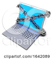 3d Chained Laptop