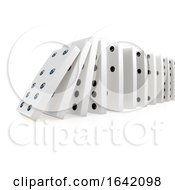 3d Collapsing Chain Of Dominoes