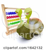 3d Snail Playing With An Abacus