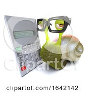 3d Snail Character Using A Digital Calculator