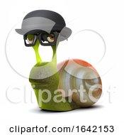 3d Snail In Bowler Hat