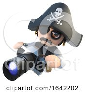 3d Pirate Captain Holding A Camera