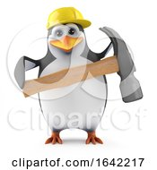 Poster, Art Print Of 3d Penguin Has A Hammer