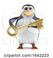 3d Penguin Has The Key