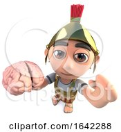 3d Roman Soldier Gladiator Holding A Human Brain
