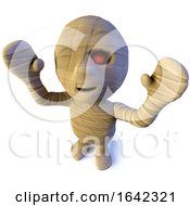 3d Egyptian Mummy Monster Character Waving Its Arms In The Air