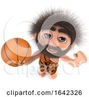 3d Stone Age Caveman Character Holding A Basketball by Steve Young