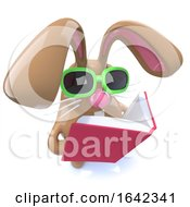 3d Cute Chocolate Easter Bunny Rabbit Reading A Book