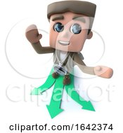 3d Hiker Choosing Which Direction To Travel