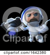 3d Spaceman Astronaut Holding A Camera by Steve Young