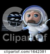 3d Astronaut Spaceman Making A Movie In Space by Steve Young