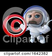 3d Astronaut Spaceman Holding A Copyright Symbol by Steve Young