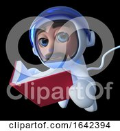 3d Spaceman Astronaut Character Reading A Book In Space by Steve Young