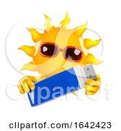 3d Sun Holds A USB Drive
