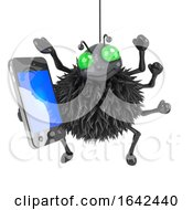 3d Spider Has A Smartphone