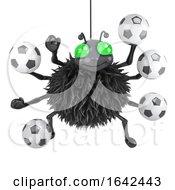 3d Spider Plays Football