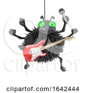 3d Spider Plays Electric Guitar