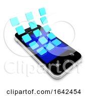 3d Icon Symbols Peel Off Smartphone