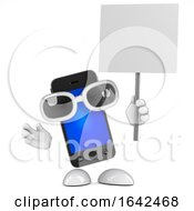3d Smartphone With Placard