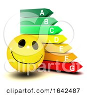 3d Smiley Character Next To An Energy Chart
