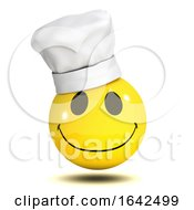 3d Funny Smiley Character Wearing A Chefs Hat