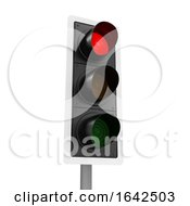 3d Traffic Lights Shows Stop