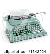 3d Old Typewriter