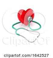 3d Stethoscope Listens To Heart