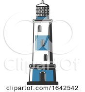 Blue And White Lighthouse