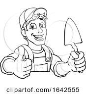 Poster, Art Print Of Trowel Construction Site Cartoon Builder Handyman