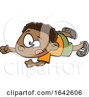 Cartoon Black Boy Doing An Army Crawl