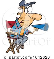 Cartoon White Male Film Director Using A Bullhorn