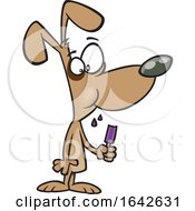 Cartoon Dog Eating A Popsicle