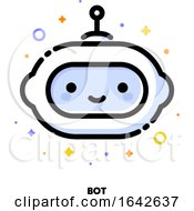 Icon Of Cute Robot Which Symbolizes Artificial Intelligence Or Virtual Assistant For SEO Concept