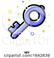 Icon Of Key Which Symbolizes Strong Password Or Keywords For SEO Concept