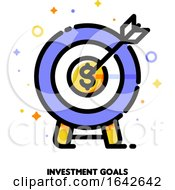 Icon Of Dartboard With Arrow For Business Target Or Investment Goals Concept
