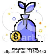 Icon Of Growing Money Tree With Dollar Sign For Financial Growth Concept