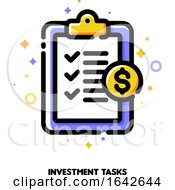 Icon Of Clipboard With Checklist And Checkmarks For Capital Investment Tasks Concept