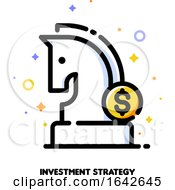 Icon Of Knight Chess Piece And Dollar Sign For Investment Strategy Concept